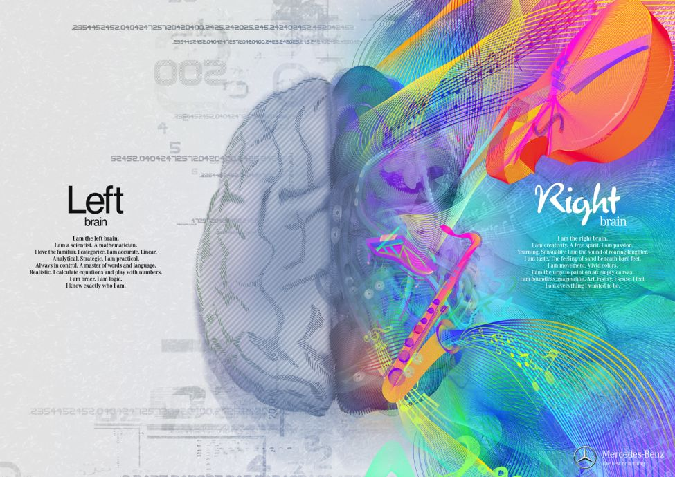 How do you manage left-brained and right-brained thinkers?